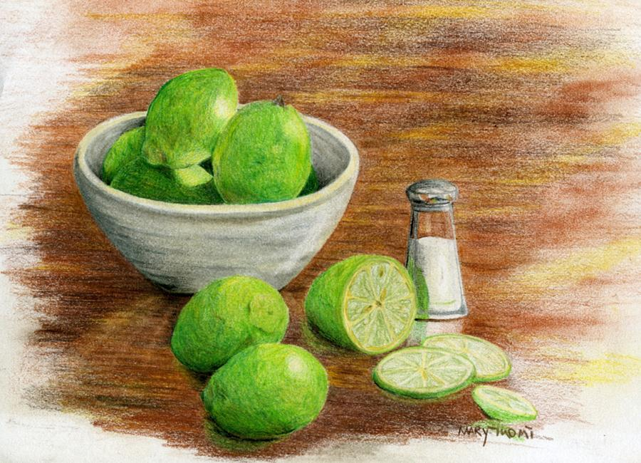 Fruit Painting - Salt And Lime by Mary Tuomi