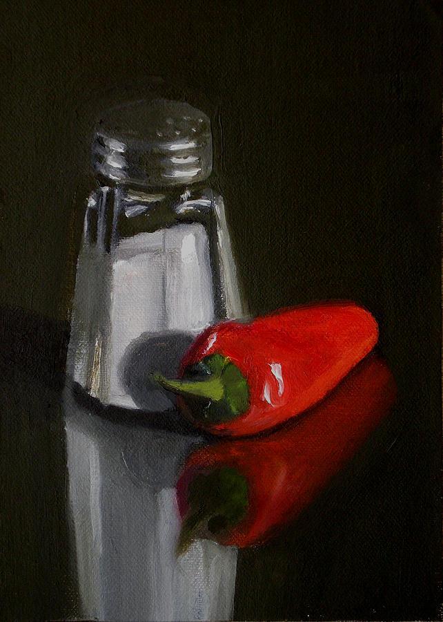 Still Life Painting - Salt And Pepper by Becky Alden