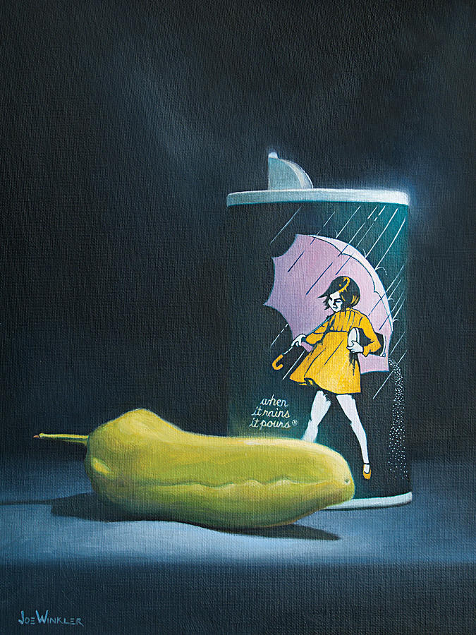 Morton Salt Painting - Salt And Pepper by Joe Winkler