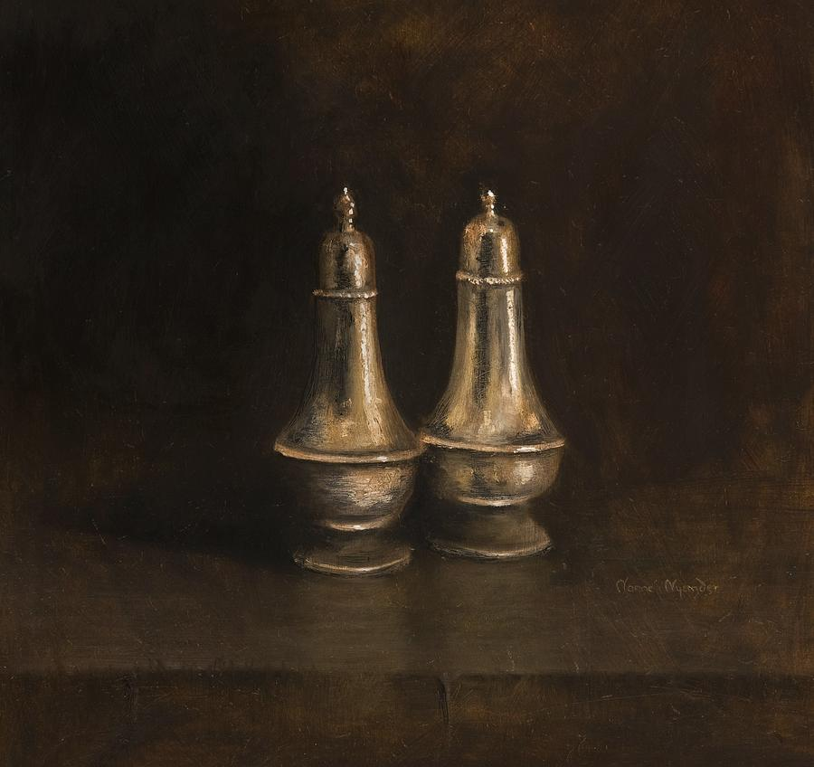 Still Life Painting - Salt And Pepper by Nanne Nyander