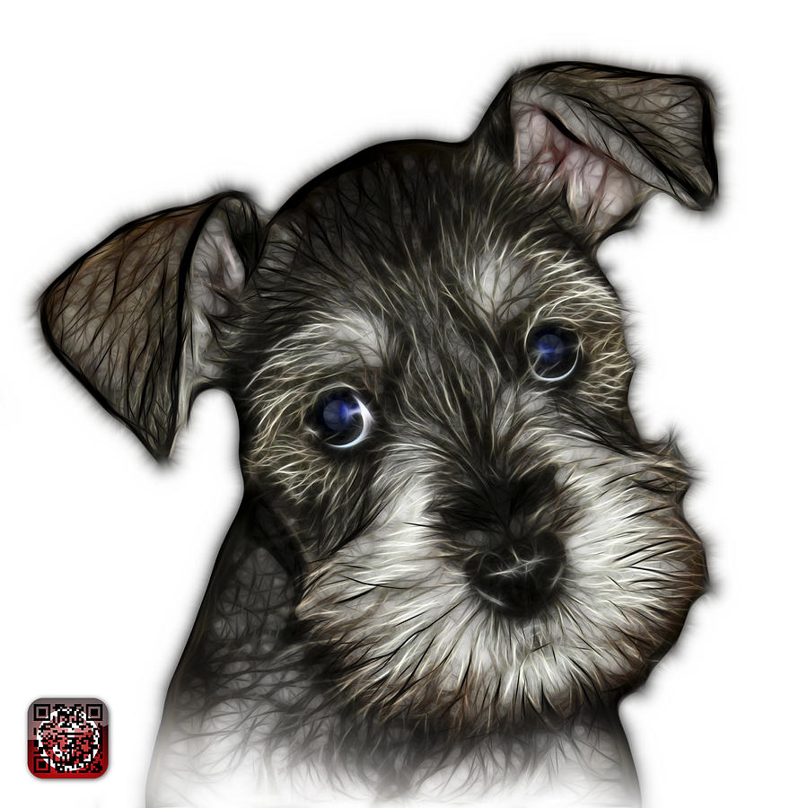 Salt and Pepper Schnauzer Puppy 7206 FS by James Ahn