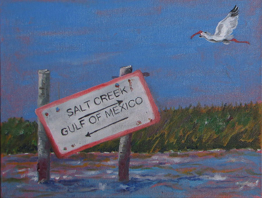 Ibis Painting - Salt Creek by Libby  Cagle