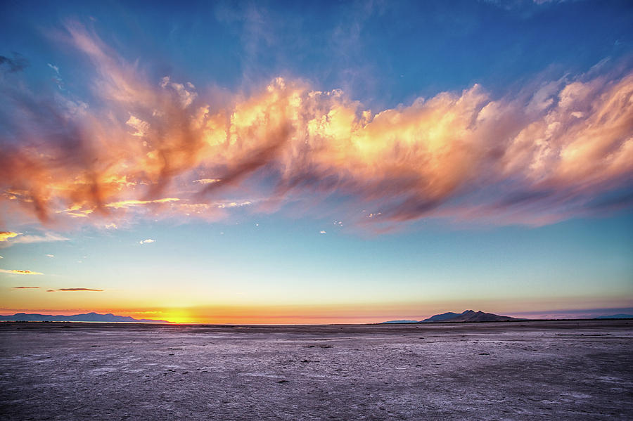 Salt Flat Sunset Photograph