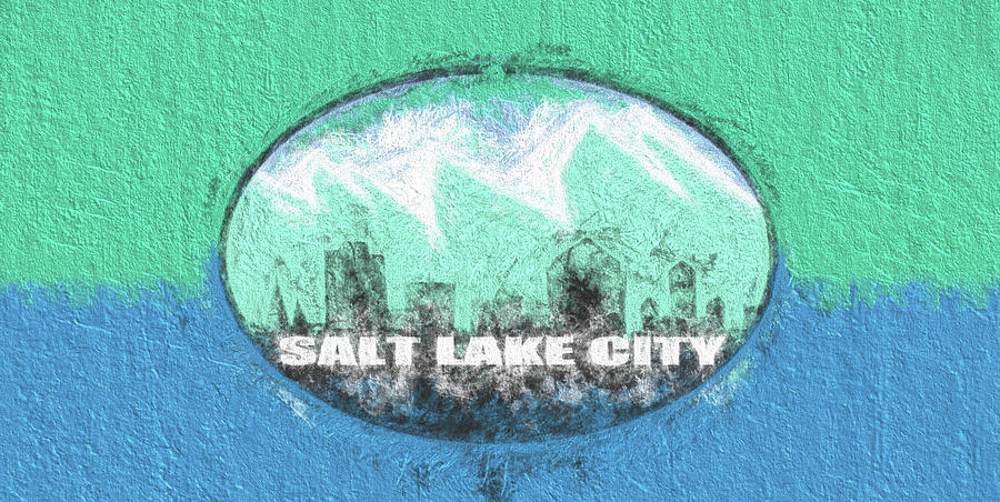 Salt Lake City Digital Art - Salt Lake City Flag by JC Findley