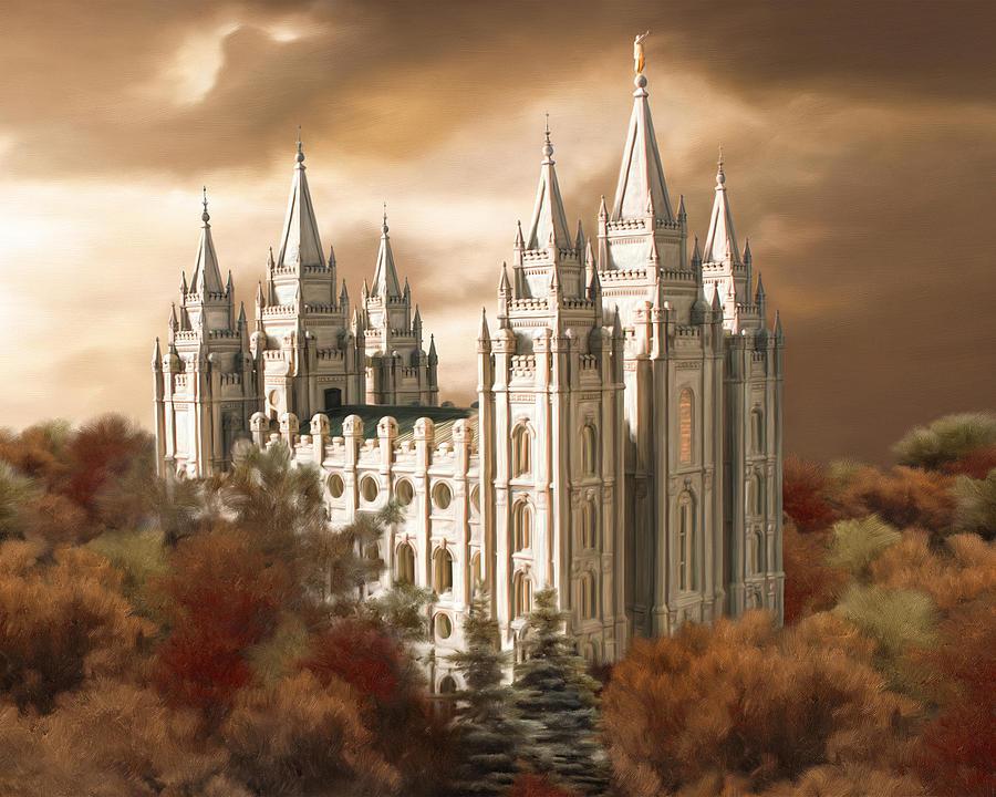 Salt Lake Temple 2 Painting By Brent Borup