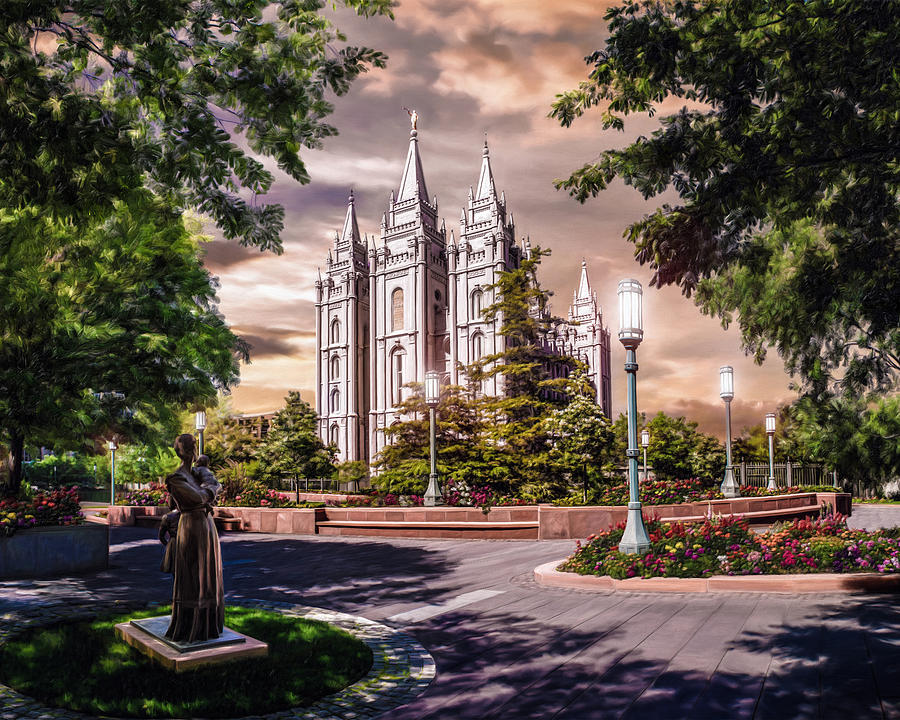 Salt Lake Painting - Salt Lake Temple #4 by Brent Borup