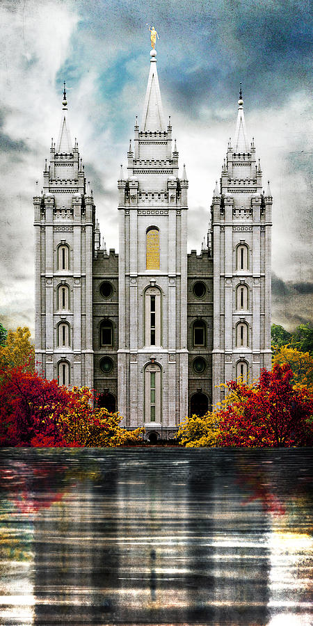 Salt Lake Photograph - Salt Lake Temple - A Place of Safety by Brent Borup
