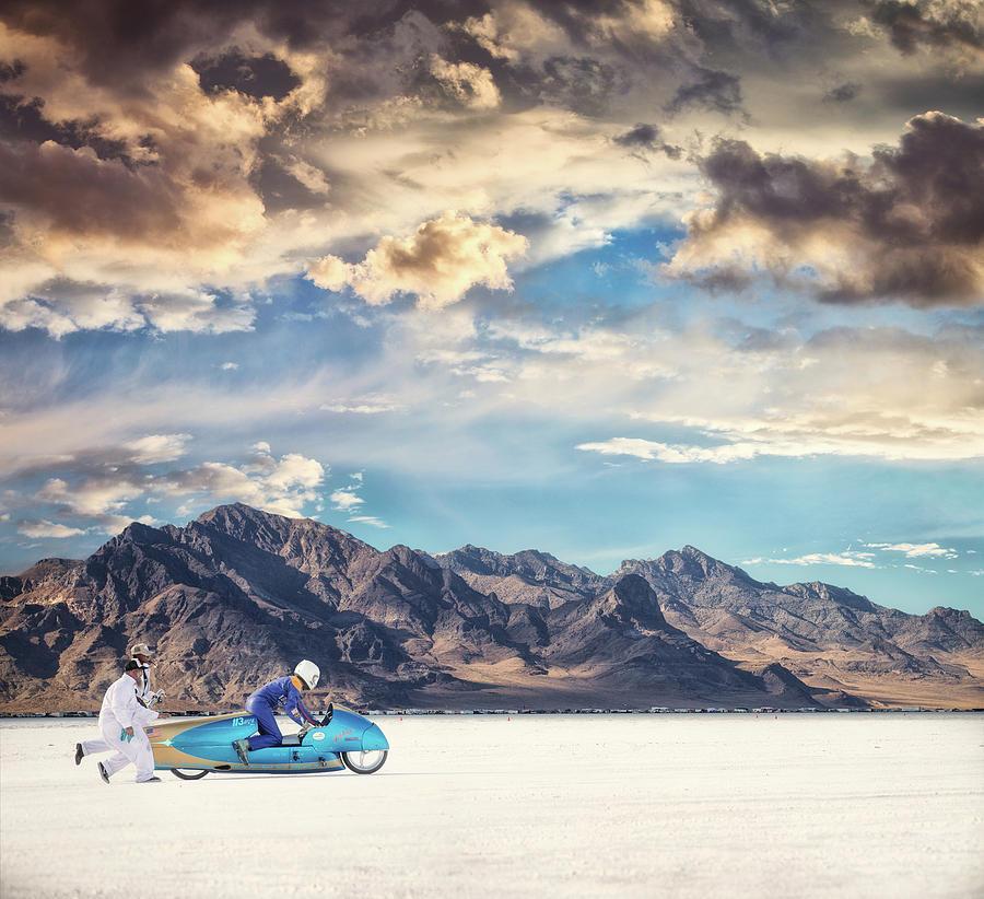 Bonneville Salt Flats Photograph - Salt Push by Keith Berr