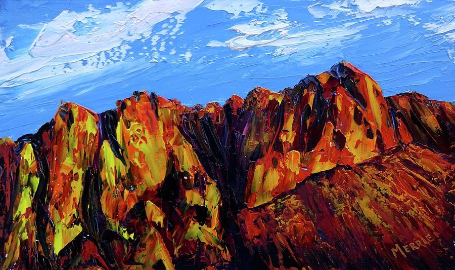 Arizona Painting - Salt River Canyon by Merrie Kapron Taverna