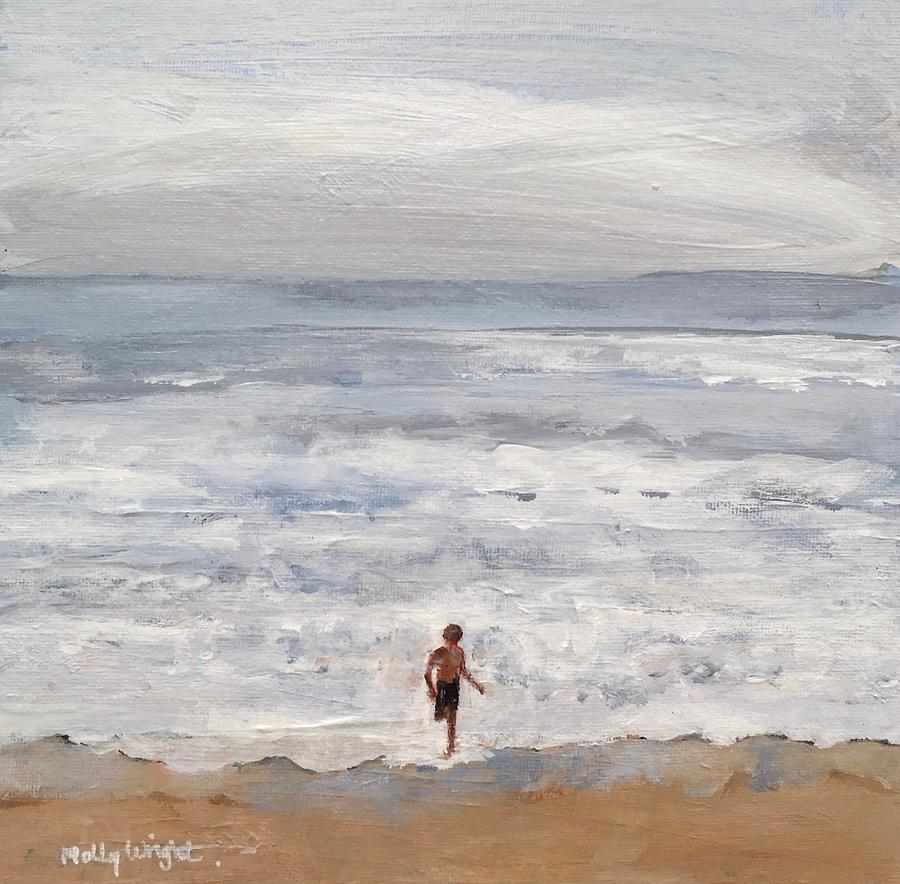 Boy Painting - Salt Rock by Molly Wright