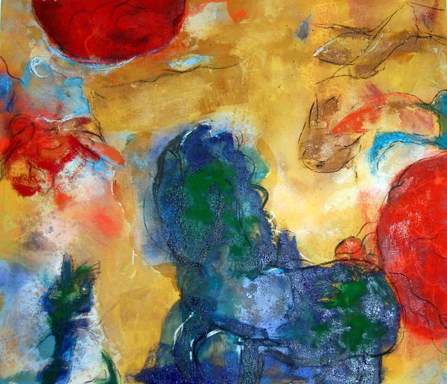 Saltadores Y Voladores Painting by Soledad  Fernandez