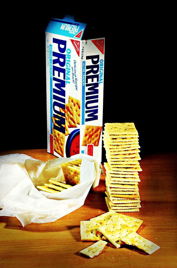 Saltine Photograph - Saltine Crackers by Diana Angstadt