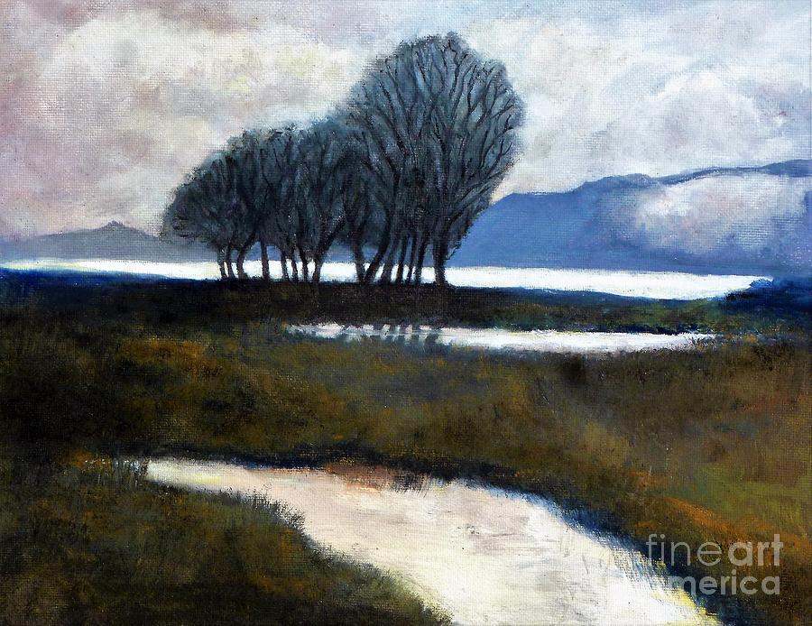 California Painting - Salton Sea Trees by Randy Sprout
