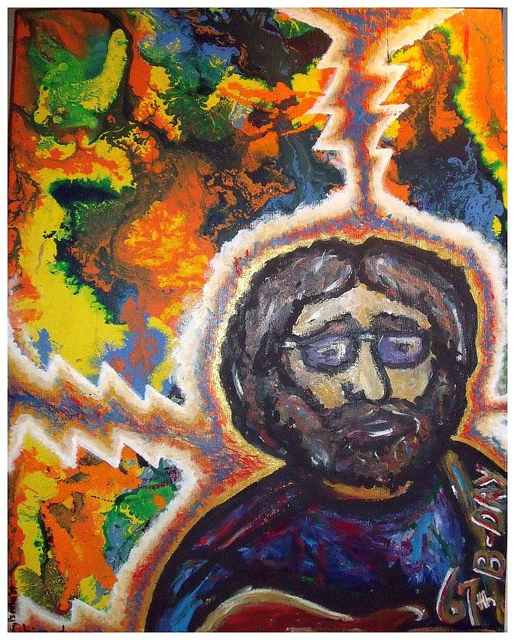 Jerry Garcia Painting - Salute To Jerry by Steve Weber
