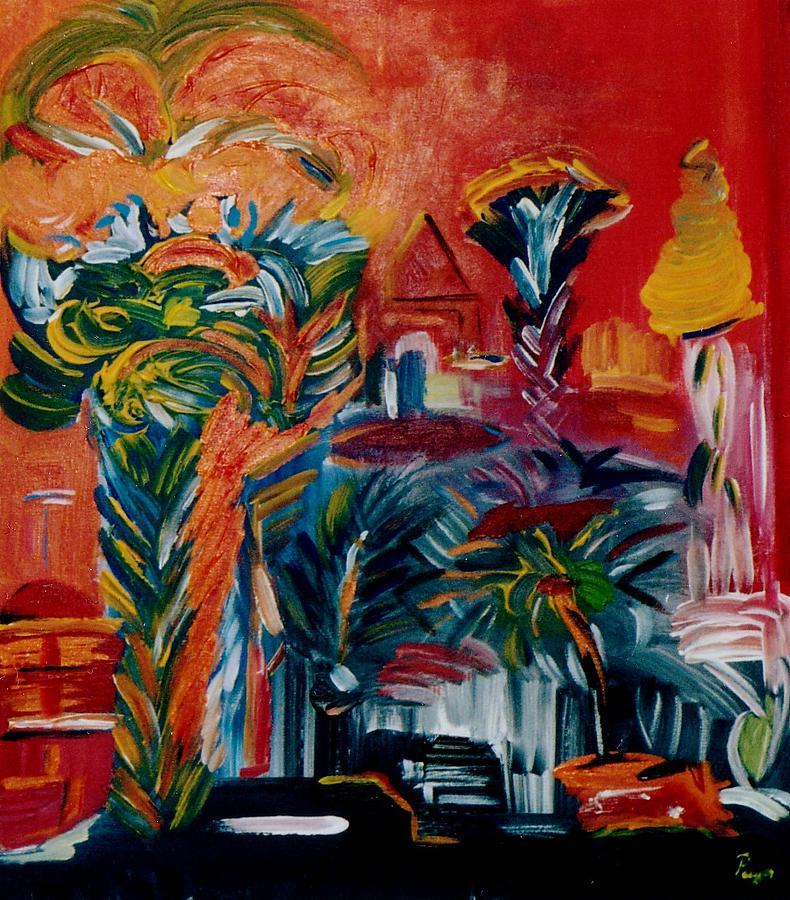 Palms Painting - Salvador Da Bahia by Michael Puya