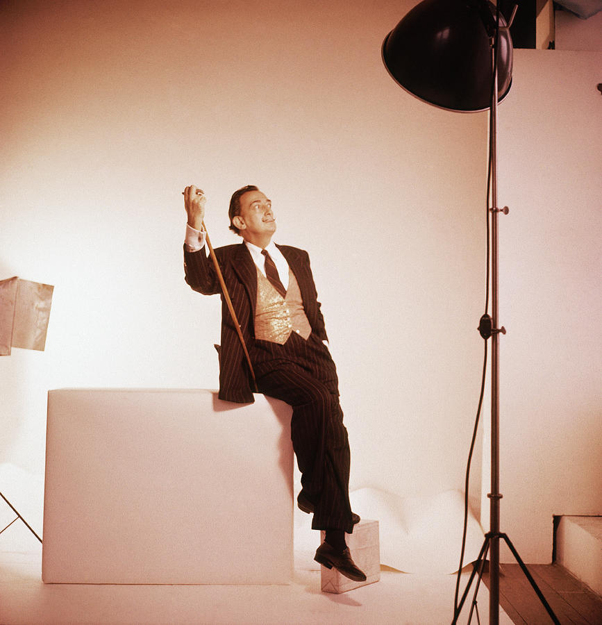 Salvador Dali On Set Photograph by Horst P Horst