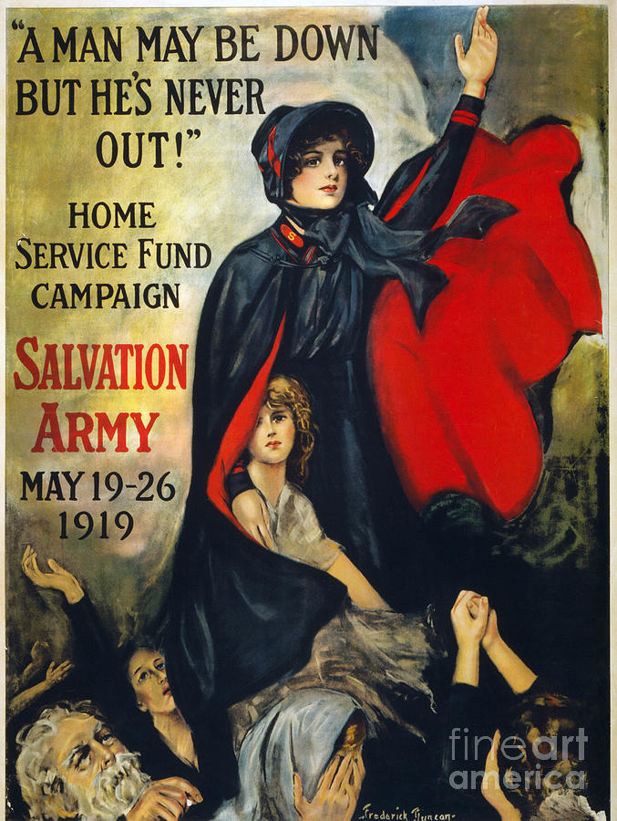 1919 Photograph - Salvation Army Poster, 1919 by Granger