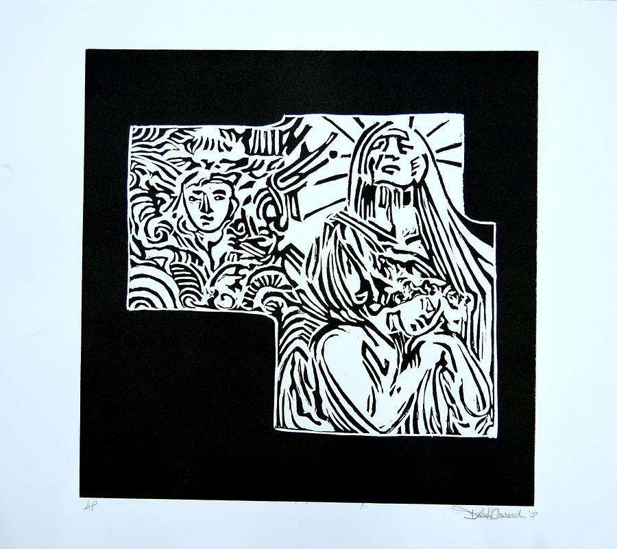 Angel Print - Salvation by DeLa Hayes Coward