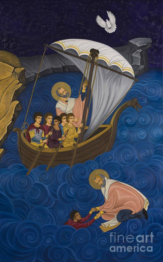 Greek Icons Painting - Salvation by Marinella Owens