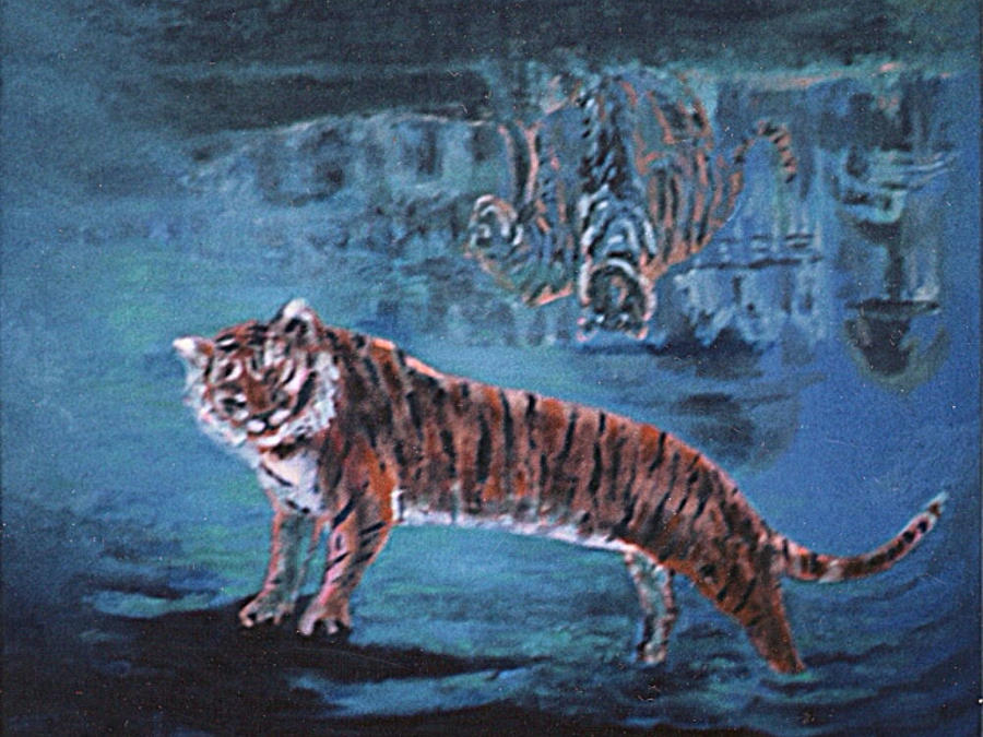 Tiger Painting - Salvato Dalle Acque by Enrico Garff