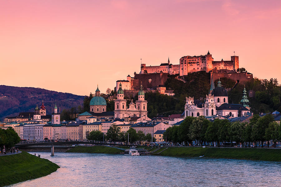 Afterglow Photograph - Salzburg 01 by Tom Uhlenberg
