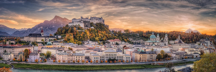 Landscape Photograph - Salzburg In Fall Colors by Stefan Mitterwallner