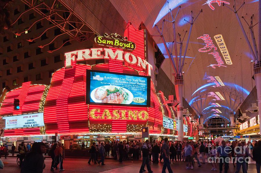 Las Vegas Photograph - Sam Boyds Fremont Casino by Andy Smy