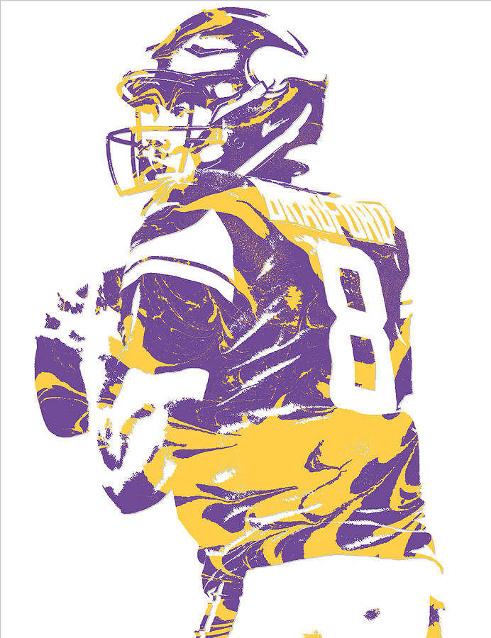 best service 654ec 3d1f3 Sam Bradford Minnesota Vikings Pixel Art 13