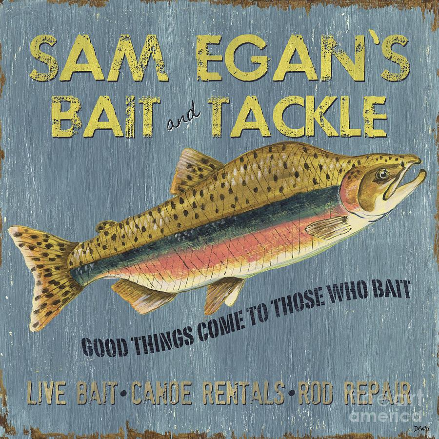 Sam Painting - Sam Egans Bait and Tackle by Debbie DeWitt