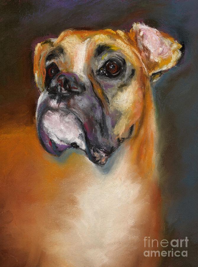 Dogs Pastel - Sam by Frances Marino