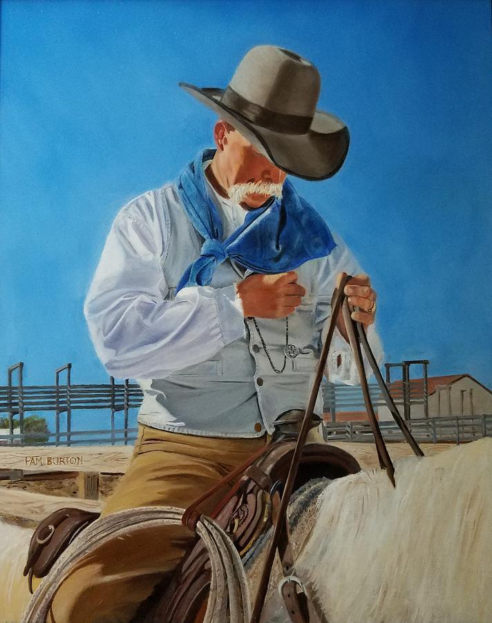 Sam Painting by Pam Burton