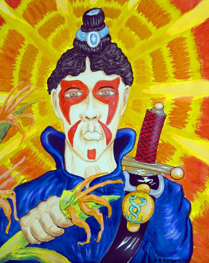 Fighter Painting - Sam Ur Eye by Eddie Sargent