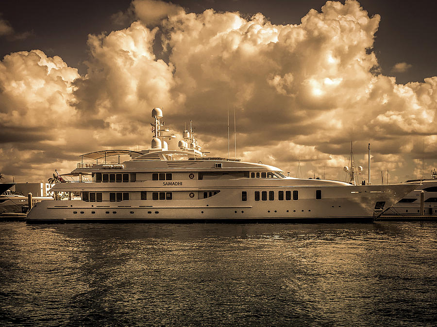Waterfront Photograph -  Samadhi Motor Yacht  by Art Spectrum