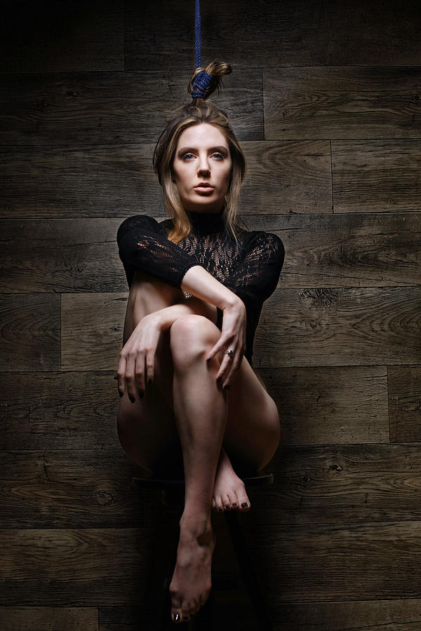 Hair Photograph - Samantha Bentley, Hair Bondage - Fine Art Of Bondage by Rod Meier