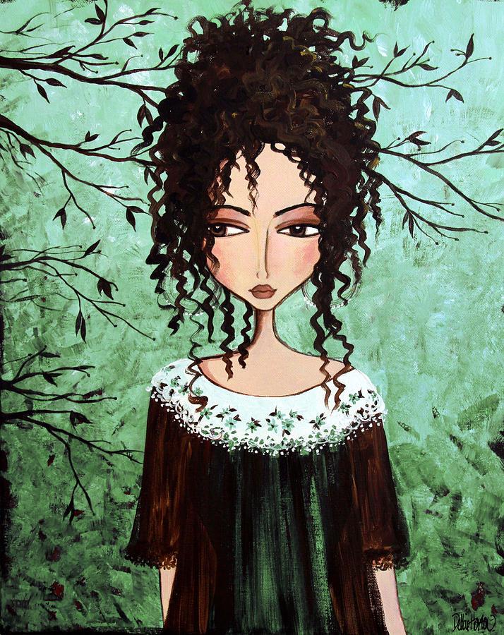 Dark Hair Painting - Samanthas Chocolate Tree by Debbie Gallerani