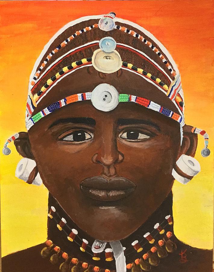 Samburu Warrior  by Karen Buford