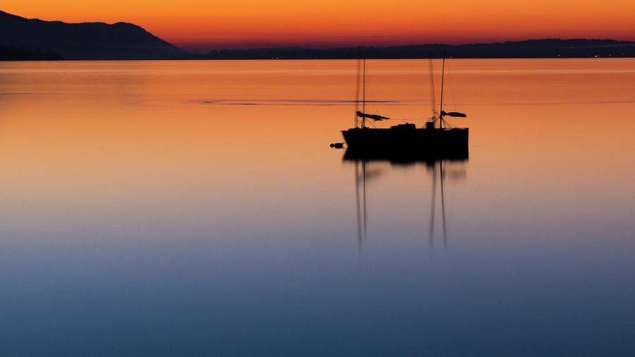 Samish Sea Sunset by Tony Locke