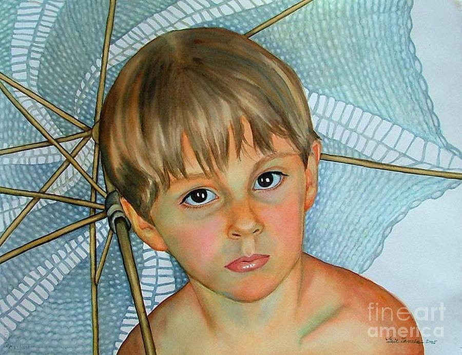 Portrait Painting - Sammy by Gail Zavala