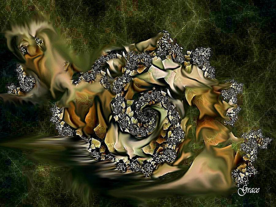 Expressive Digital Art - Sammy Snail by Julie Grace