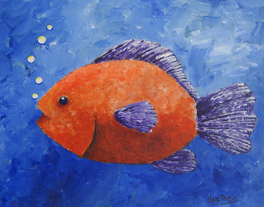 Fish Painting - Sammy by Suzanne Theis