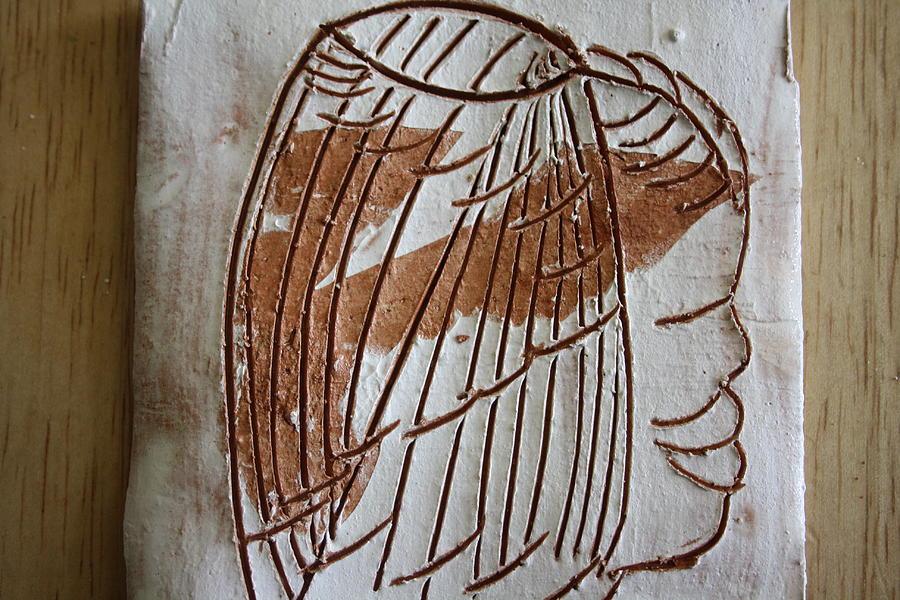 Jesus Ceramic Art - Samson - Tile by Gloria Ssali