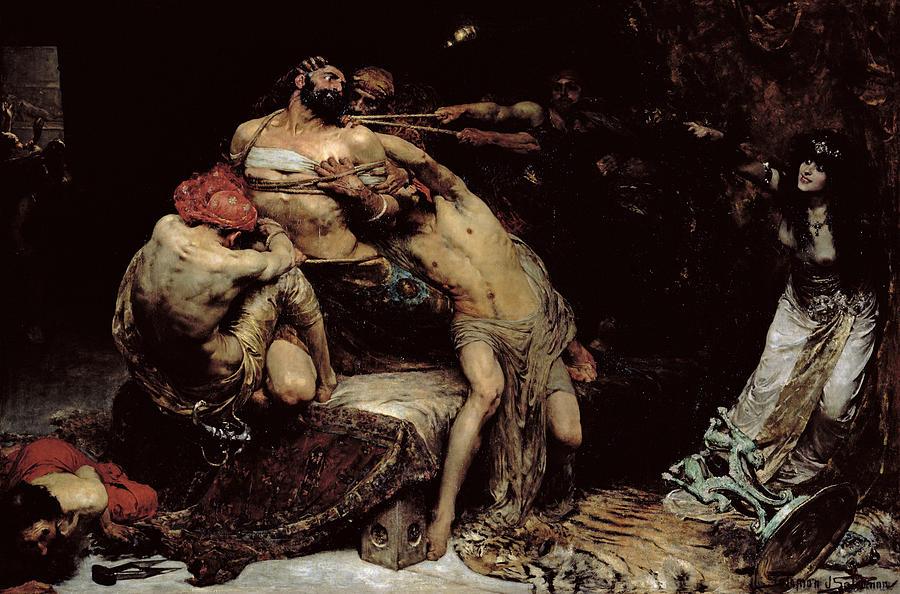 Nude Painting - Samson by Solomon Joseph Solomon
