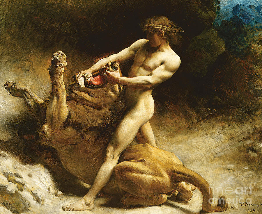 Jaws Painting - Samsons Youth by Leon Joseph Florentin Bonnat