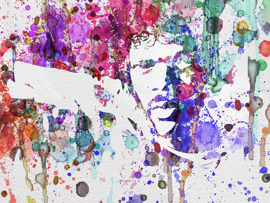 Pulp Fiction Painting - Samuel L Jackson Pulp Fiction by Naxart Studio