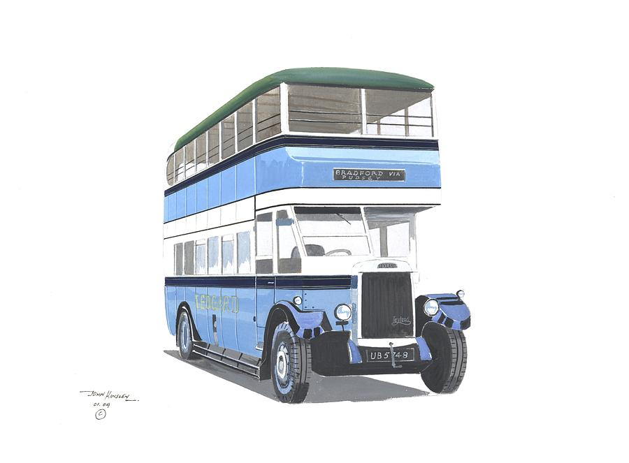 British Buses Painting - Samuel Ledgard  Leyland by John Kinsley
