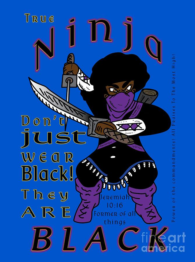 Israelite Digital Art - True Ninja by Robert Watson