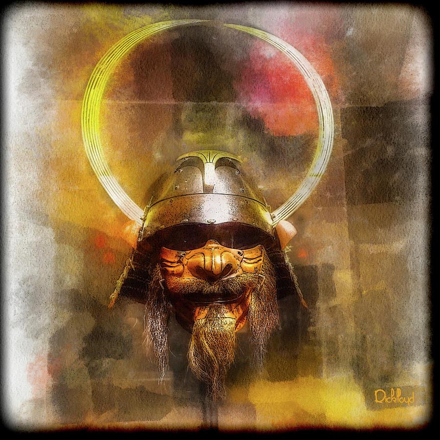 Samurai armor with bearded half mask