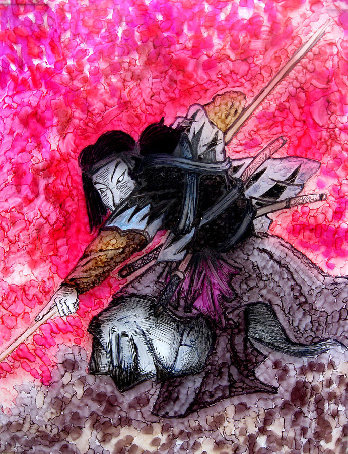 Painting Painting - Samurai by Jeff DOttavio