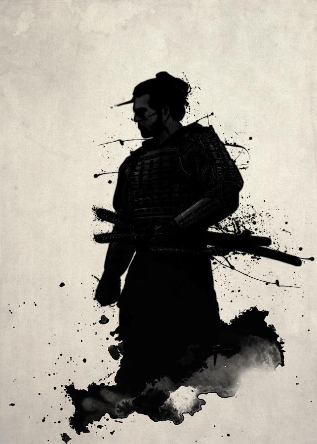 Samurai Painting - Samurai by Nicklas Gustafsson