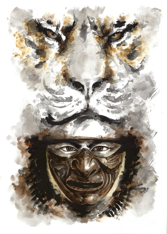 Samurai Painting - Samurai - Warrior Soul. by Mariusz Szmerdt